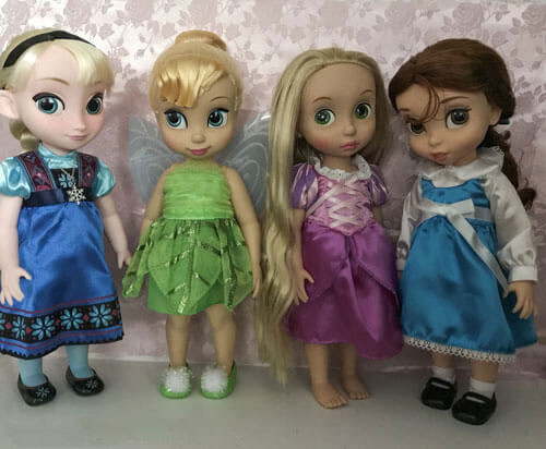 Our Disney Animators' Doll Collection: Elsa, Tinker Bell, Rapunzel, And Belle