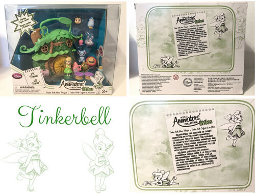 Disney Animators Mini Figures Tinker Bell Playset.