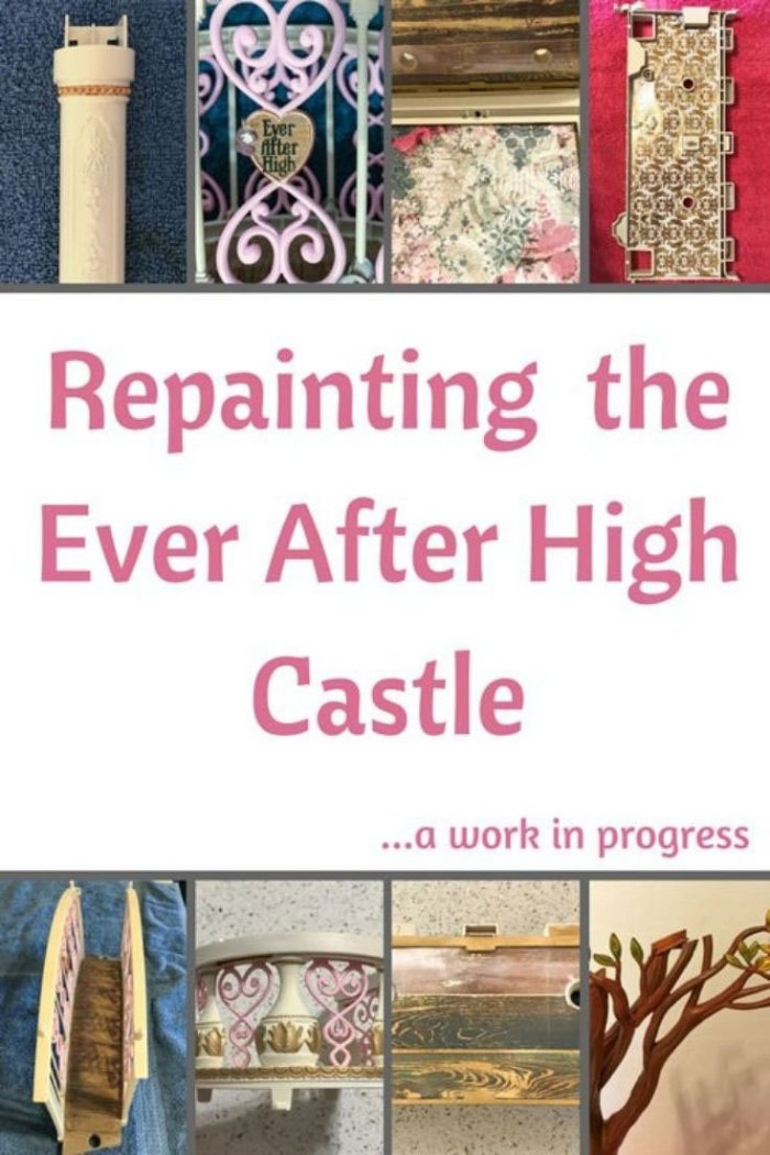 Repainting the Ever After High Castle: A Work In Progress.