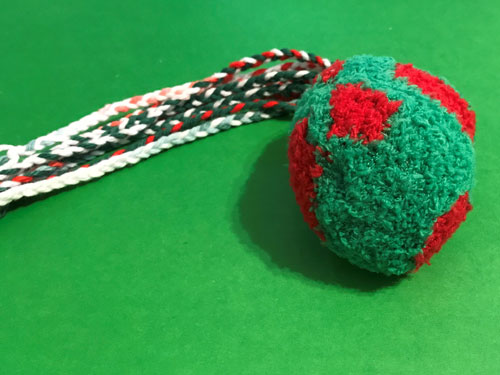 DIY cat toy with tail (still need to embroider on a face).