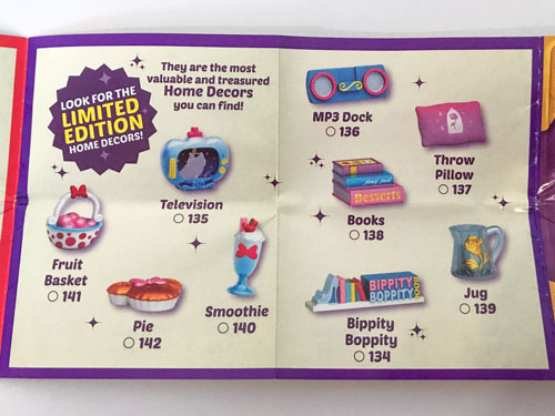 Image Of Blind Box Cataloge Showing Limited Edition Items