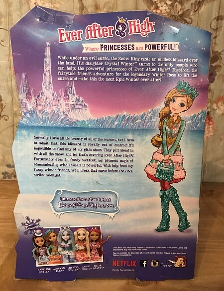 Description On Back Of Ashlynn Ella's Box