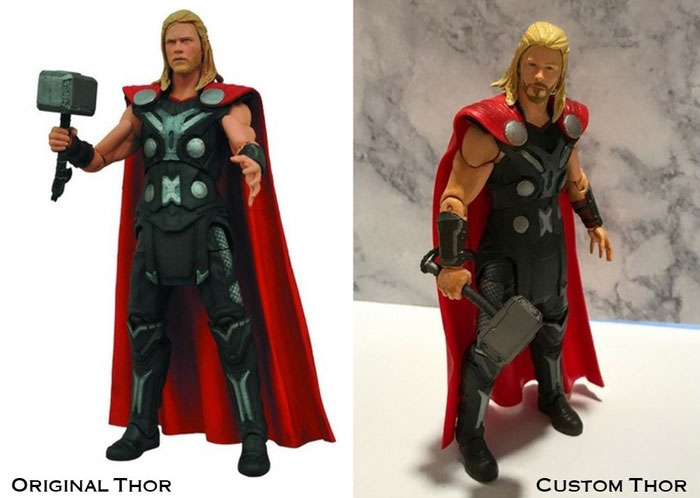 Custom Thor Versus Original Figure