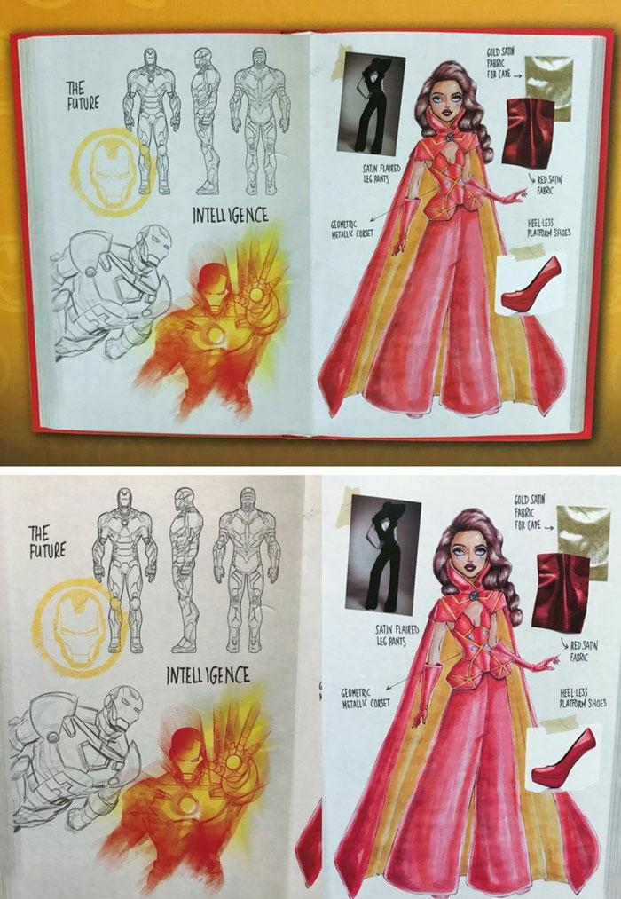 Sketchbook On Back Of Box