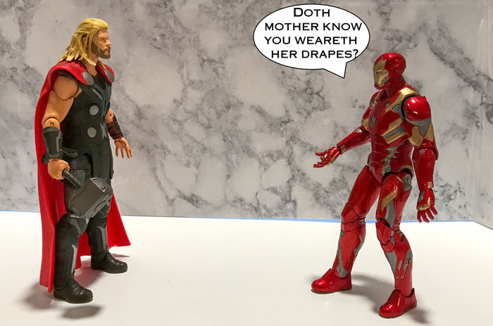 Iron Man And Thor Action Figures With Quote