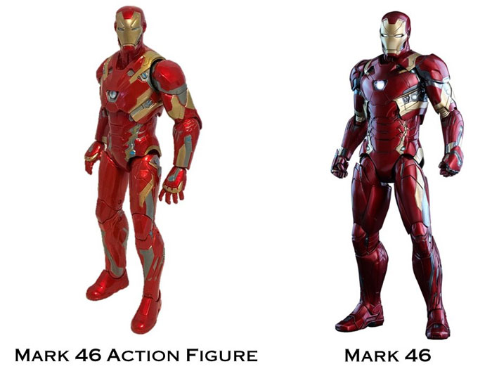 Mark 46 Iron Man Action Figure Image