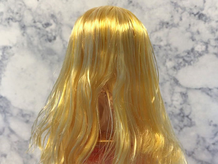 Image: Blondie Locks After Letting Hair Dry.