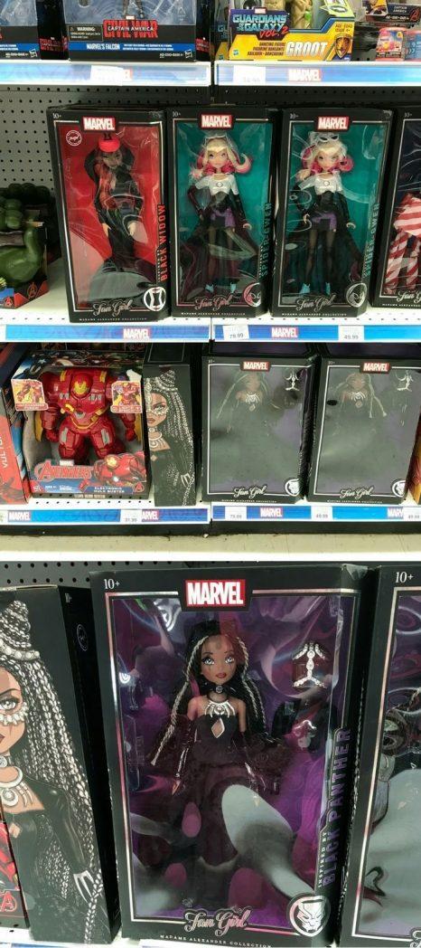 Marvel Fan Girl Dolls At Toys R Us.