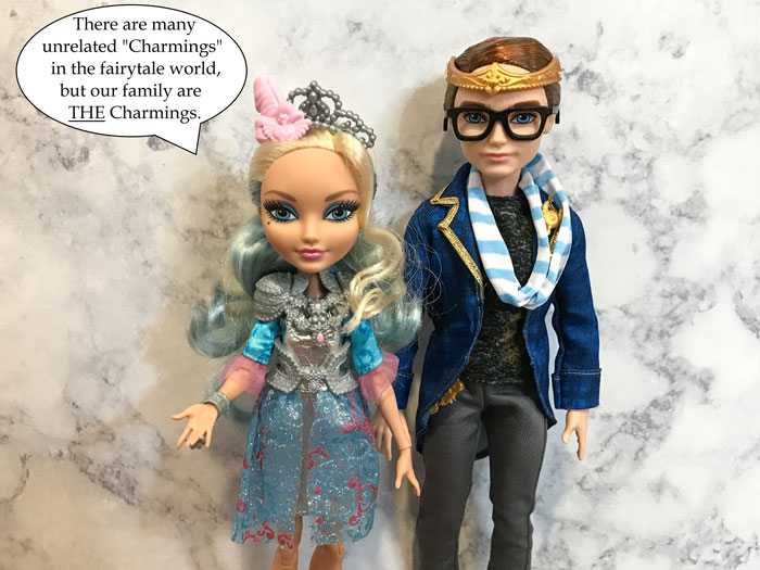 Dexter and Darling Charming Ever After High dolls.
