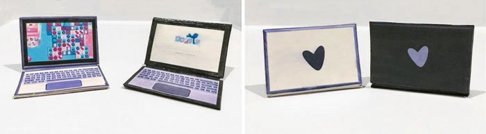 DIY Barbie Laptops (Black and Silver).