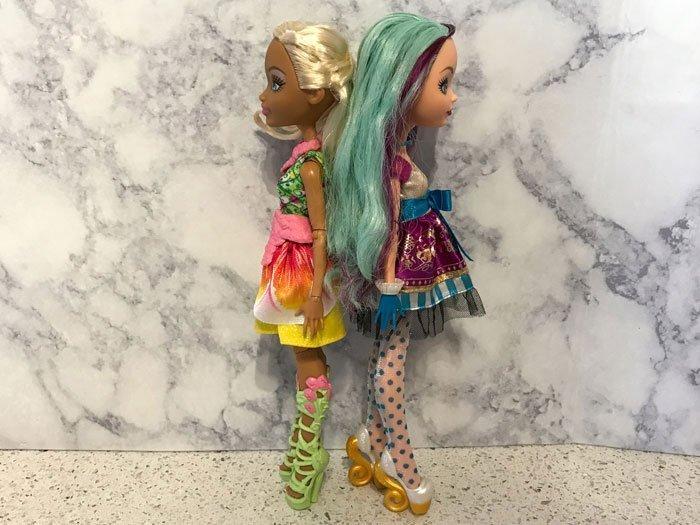 Nina Thumbell and Madeline Hatter dolls.
