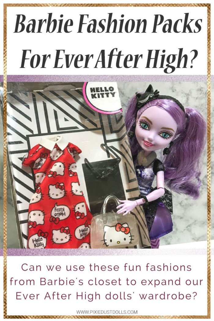 Can Barbie Fashion Packs fit Ever After High dolls?