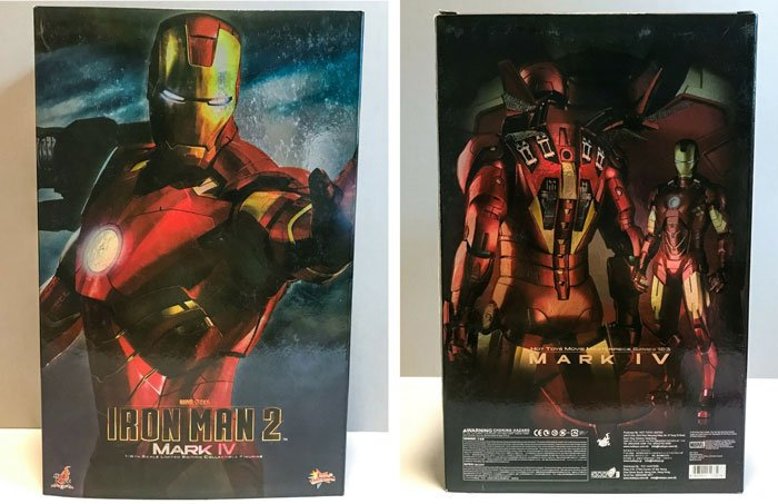Hot Toys Iron Man Mark IV Box Front.