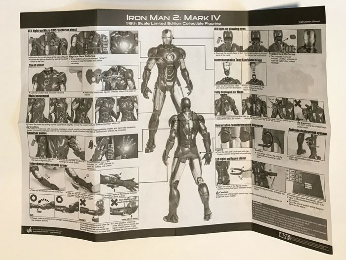 Image of Iron Man Mark IV instructions.
