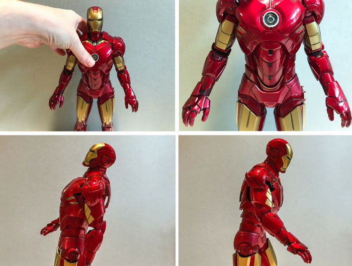 Iron Man's waist can expand for even more movement.