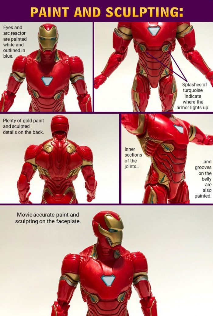 Paint and Sculpting on Iron Man action figure.