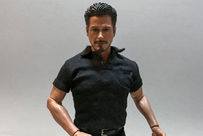 Tony Stark figure from Hot Toys Arc Reactor Creation set (Iron Man 2).