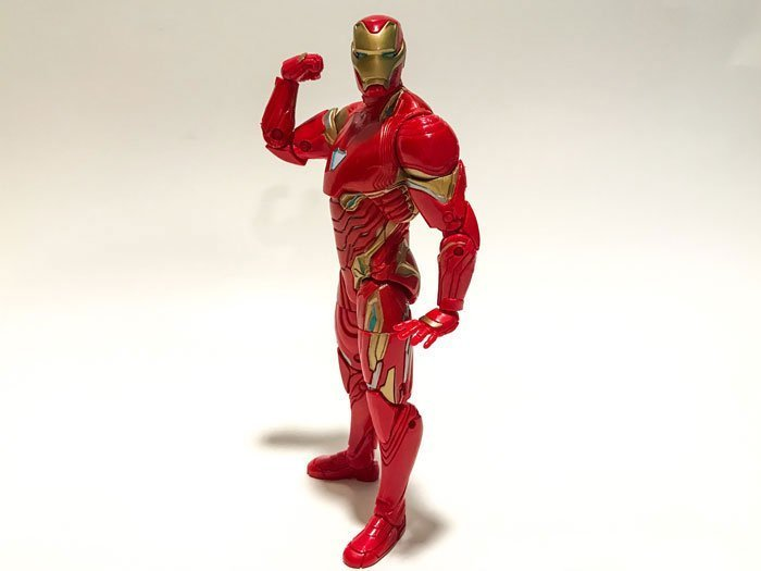 The Marvel Legends Infinity War Iron Man figure is modeled after the Mark 50.