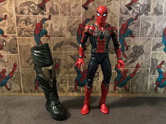 Iron Spider from the Marvel Legends Thanos BAF Wave.