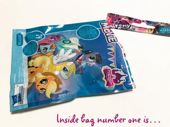 Inside bag number one is...