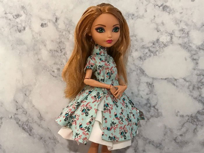 A new dress for Ashlynn Ella.