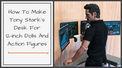 "How to make Tony Stark's desk for a 12"" doll or action figure."