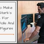 """How to make Tony Stark's desk for a 12"""" doll or action figure."""
