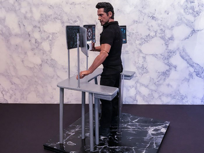 Custom Workshop Desk For Hot Toys Tony Stark.
