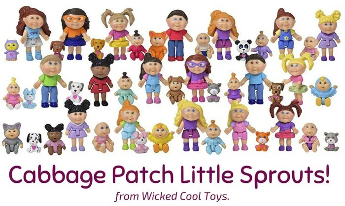 Cabbage Patch Little Sprouts Mini Figures from Wicked Cool Toys.