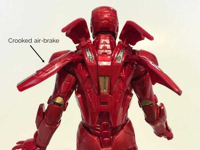 Crooked air brake on Marvel Studios Mark VII.