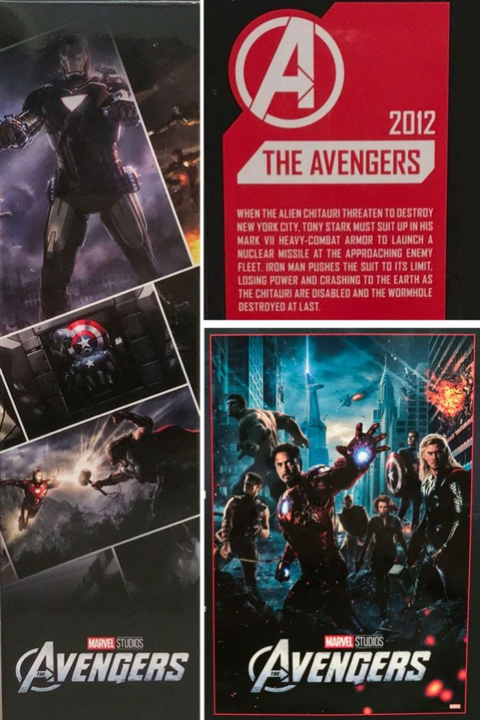Images from Marvel Studios Iron Man Mark VII box.