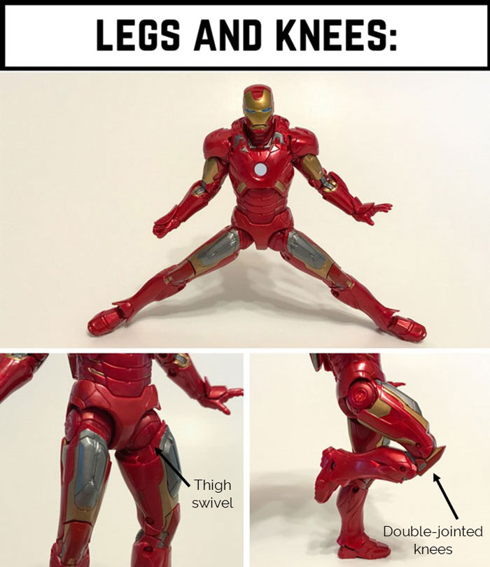 Leg and knee articulation.