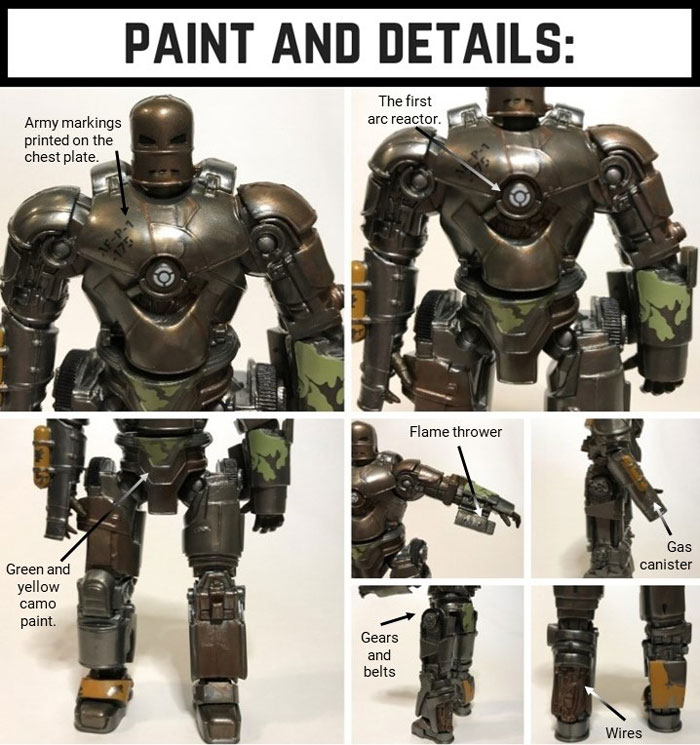 Marvel Legends Mark 1 Paint And Details.