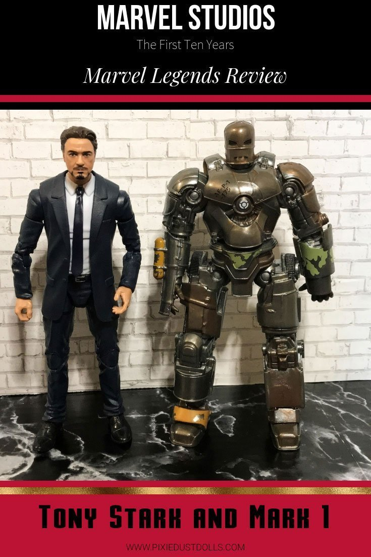 Marvel Studios: First Ten Years Legends Series Tony Stark and Mark One Review.