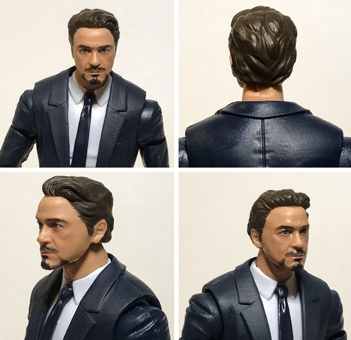 Marvel Legends Tony Stark Face Sculpt.