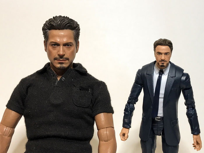 Hot Toys and Marvel Studios Tony Stark comparison.