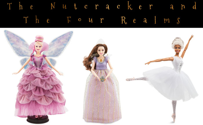 Live-Action Nutcracker and the Four Realms dolls.