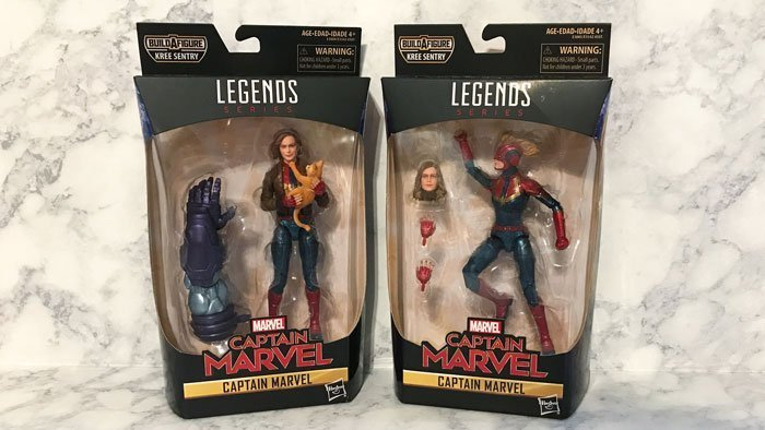 Review of Captain Marvel from Marvel Legends Kree Sentry wave.
