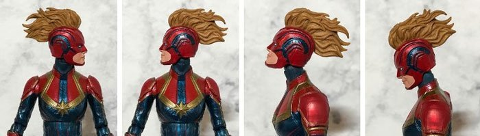 Captain Marvel head and neck articulation.