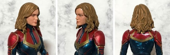 Detailed look at the Marvel Legends Captain Marvel.