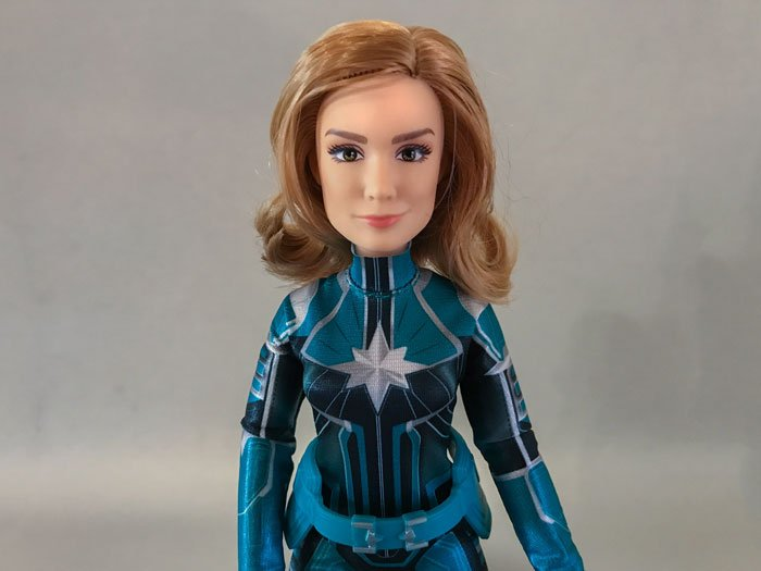 Hasbro's Captain Marvel doll has a very pretty face sculpt.
