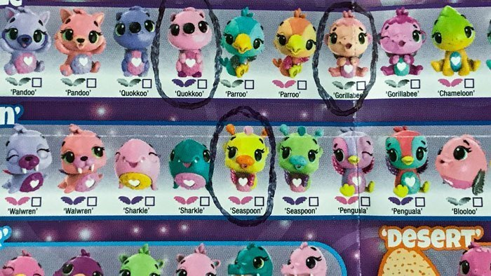 Image of Hatchimal Collector's guide showing Seaspoon.