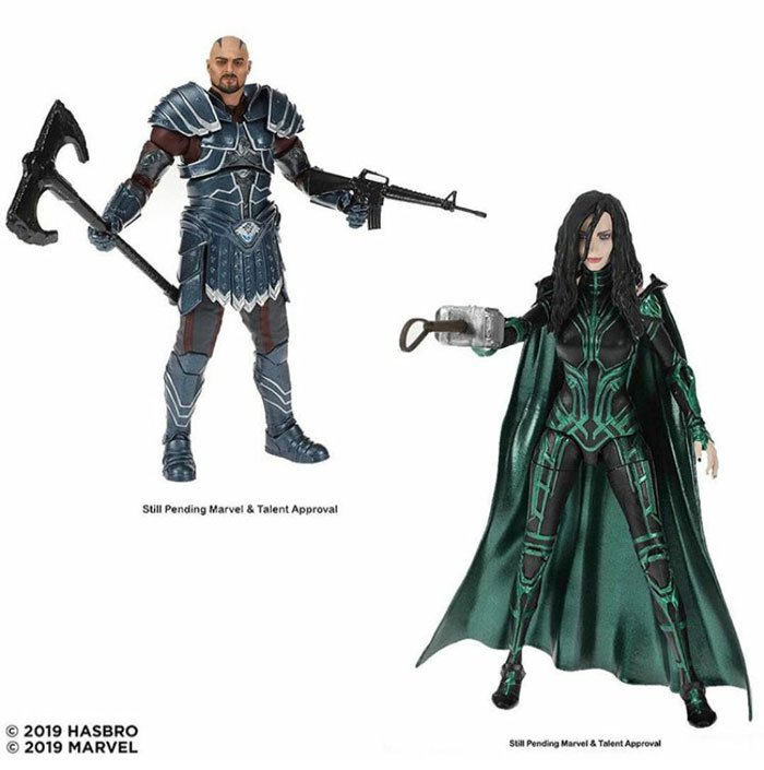 Marvel 80th Anniversary Legends Skurge and Hela from Thor: Ragnarok. Coming Fall 2019.