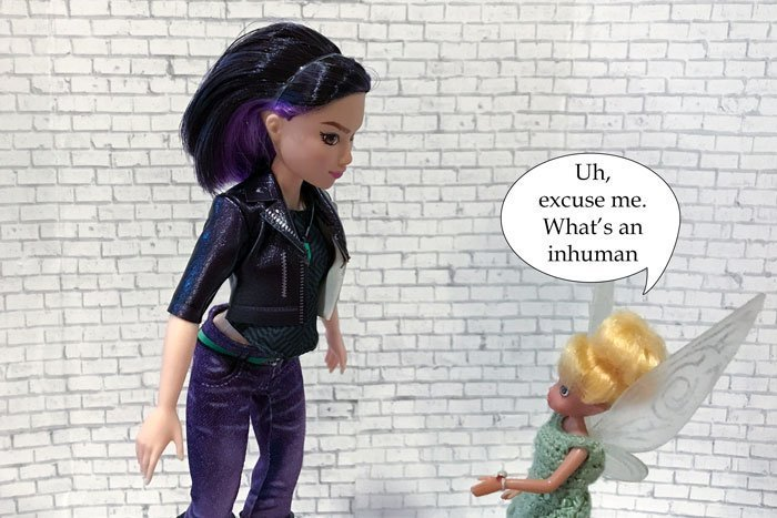 Image of Tinkerbell talking: Uh, excuse me. What's an Inhuman?