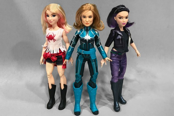 My Marvel Doll Collection: Captain Marvel, Ghost-Spider, and Quake.