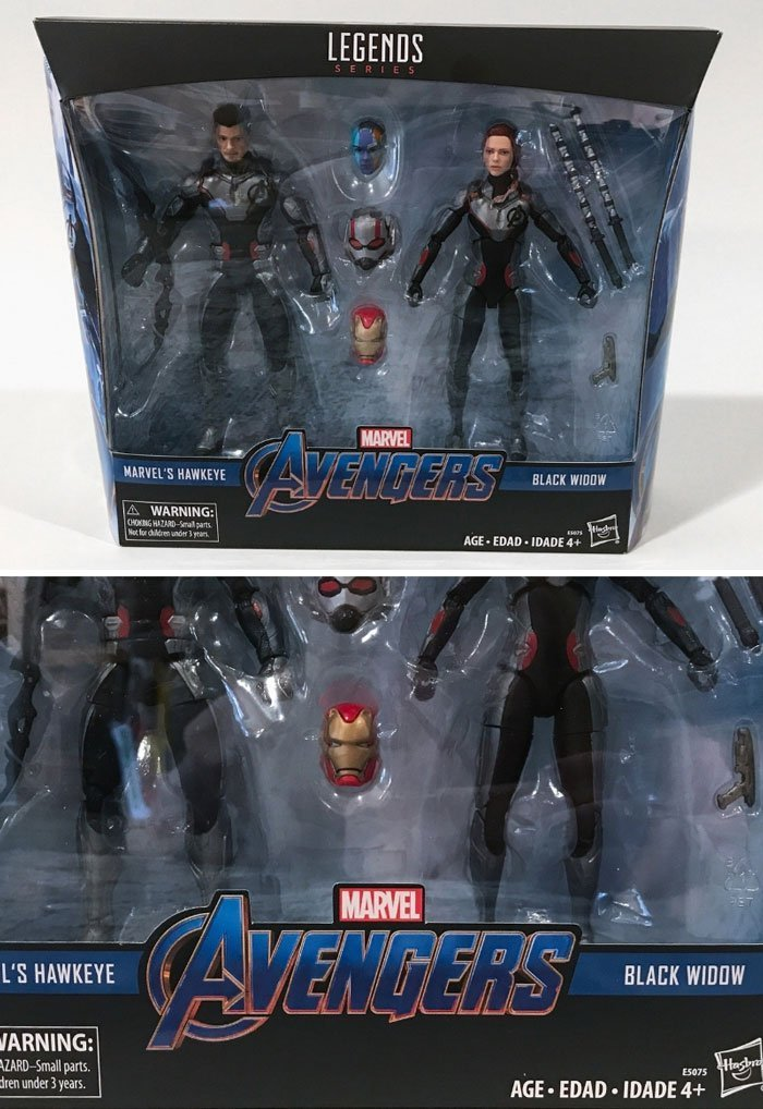 Marvel Legends Black Widow and Hawkeye Box Front.