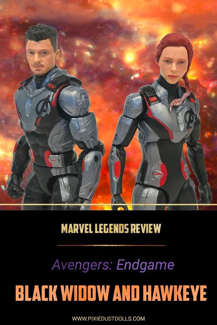 Marvel Legends Review: Black Widow and Hawkeye from Avengers: Endgame.