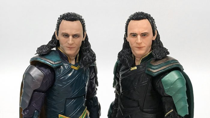 Comparing the Marvel Legends Thor: Ragnarok Loki to the Marvel Legends Infinity War Loki.