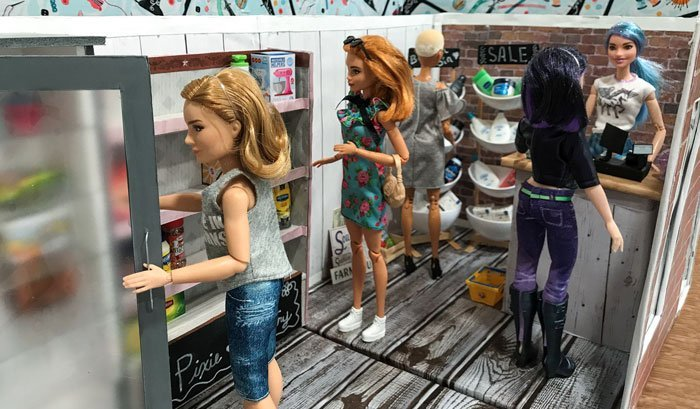 DIY Doll Grocery Store (inside).