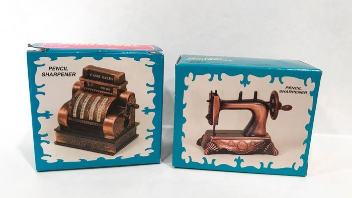 These diecast pencil sharpeners are perfect for the dollhouse.